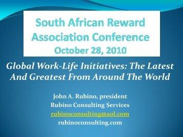 Global Work Life Initiatives - South African Reward Association