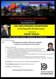 Please click here for the full SARA Conference programme 2011
