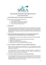 SARA CONTINUOUS PROFESSIONAL DEVELOPMENT (CPD ...