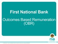 Outcomes Based Remuneration