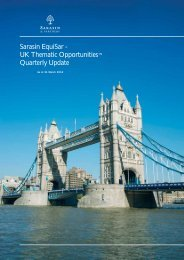 UK Thematic Opportunities Quarterly Update - Bank Sarasin-Alpen