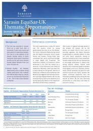 Sarasin EquiSar-UK Thematic Opportunities - Bank Sarasin-Alpen