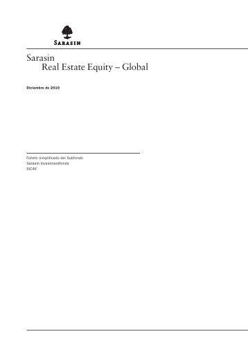 Sarasin Real Estate Equity – Global - Bank Sarasin-Alpen