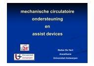 mechanische circulatoire ondersteuning en assist devices