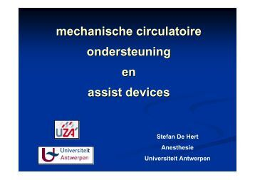 mechanische circulatoire ondersteuning en assist devices