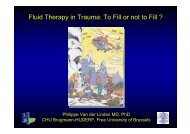 Fluid Therapy in Trauma: To Fill or not to Fill ?
