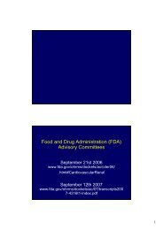 Food and Drug Administration (FDA) Advisory Committees