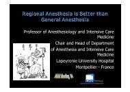 Regional Anesthesia is Better than General Anesthesia