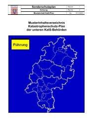 Musterinhaltsverzeichnis Katastrophenschutz-Plan der ... - Sardog