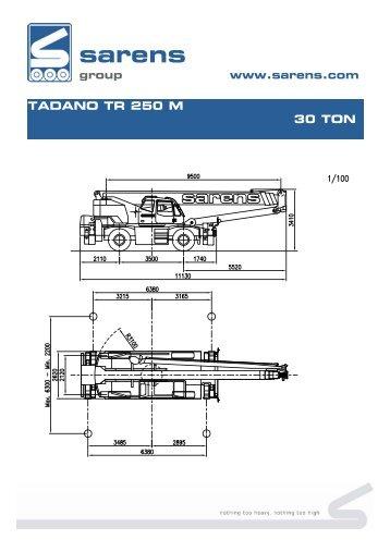 tadano tr 250 m 30 ton - Sarens