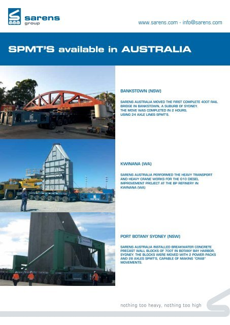 Leaflet Australia - Sarens