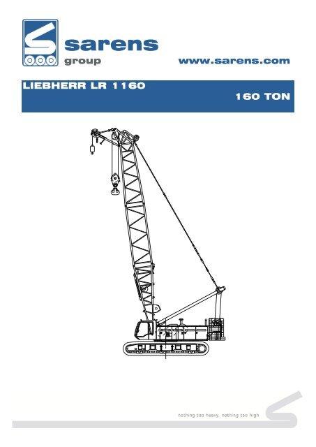 Liebherr LR 1160 - Sarens