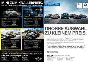 die BMW dienstWagentage nUr voM 09. Bis 16. jUni 2012