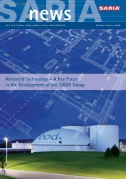 Advanced Technology - Saria Bio-Industries AG & Co. KG