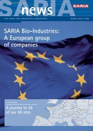 A European group of companies - Saria Bio-Industries AG & Co. KG