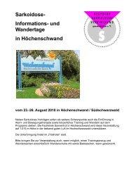 und Wandertage in Höchenschwand - Deutsche Sarkoidose ...