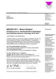 MEDIZIN 2011 – Messe Stuttgart - Deutsche Sarkoidose ...