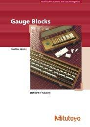 Gauge Blocks - Mitutoyo UK Ltd