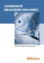 COORDINATE MEASURING MACHINES - Mitutoyo UK Ltd