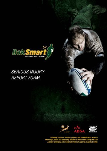 SERIOUS INJURY REPORT FORM - SA Rugby