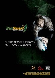 BokSmart Return to Play Guidelines Following a ... - SA Rugby