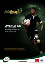 BokSmart 2010-Summary Of Performance Enhancing ... - SA Rugby