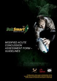 front page heading modified acute concussion ... - SA Rugby