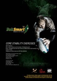 FRONT PAGE HEADING CORE STABILITY EXERCISES - SA Rugby