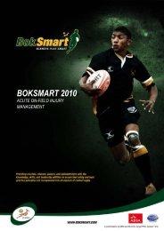 BokSmart 2010-Acute on field Injury Management - SA Rugby