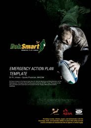 front page heading emergency action plan template - SA Rugby