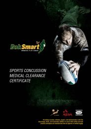 front page heading sports concussion medical ... - SA Rugby