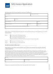 Application form - SAS