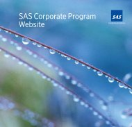 SAS Corporate Program Website