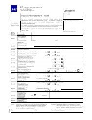 Medical information form - medif - SAS