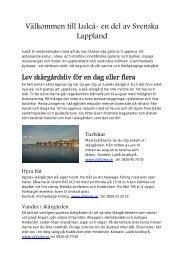 Välkommen till Luleå- en del av Svenska Lappland - SAS