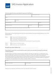 Application form - SAS