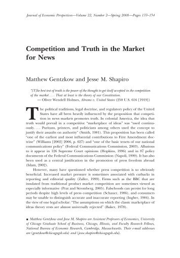 Competition and Truth in the Market for News