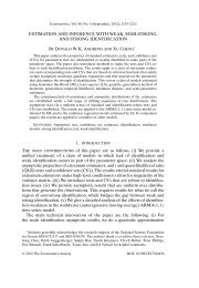 ESTIMATION AND INFERENCE WITH WEAK, SEMI-STRONG, AND ...