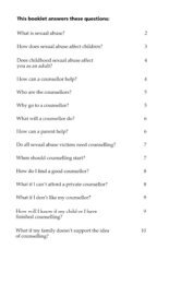 This booklet answers these questions: What is sexual abuse? How ...