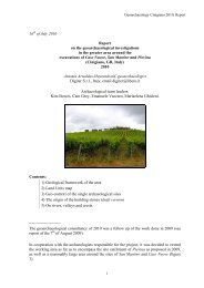 16 of July 2010 Report on the geoarchaeological investigations in ...