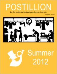 Summer 2012 - Saskatchewan German Council
