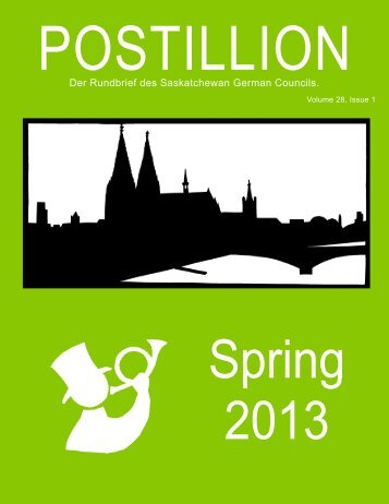 Spring 2013 - Saskatchewan German Council