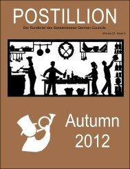 Fall Postillion - Saskatchewan German Council