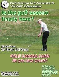ON PAR - Golf Saskatchewan
