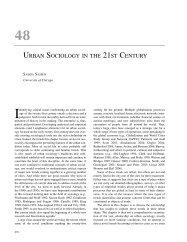 URBAN SOCIOLOGY IN THE 21ST CENTURY - Saskia Sassen