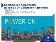 Collaboration Agreements - Saskatchewan Mining Association