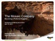 The Mosaic Company - Saskatchewan Mining Association
