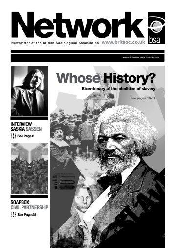 Whose History? - Saskia Sassen