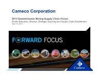 Cameco Corporation - Saskatchewan Mining Association