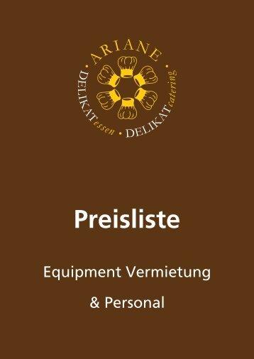 Preisliste - ARIANE DELIKATessen